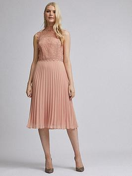 dorothy-perkins-lace-pleat-midi-dress-nude