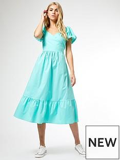 dorothy-perkins-poplin-midi-dress-mint