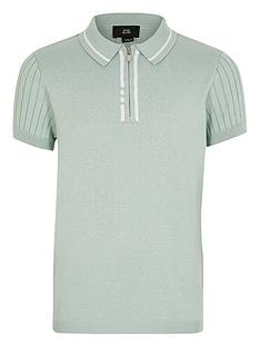 river-island-boys-knitted-short-sleeve-polo-top-mint