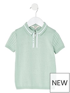 river-island-mini-mini-boys-knitted-stitched-polo-top--nbspmint