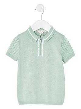 river-island-mini-mini-boys-knitted-stitched-polo-top--nbspmint