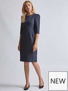 dorothy-perkins-short-sleeve-dress-navy