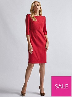 dorothy-perkins-short-sleeve-dress-red