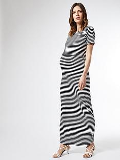 dorothy-perkins-maternity-stripe-layered-maxi-dress-black