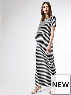 dorothy-perkins-maternity-stripe-layered-maxi-dress-black