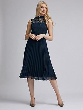 dorothy-perkins-lace-midi-dress-navy