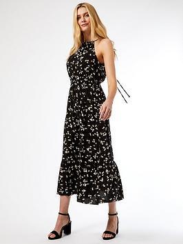dorothy-perkins-daisy-halter-neck-smock-midaxi-dress-black