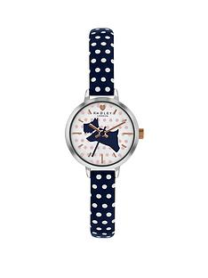radley-ary2733snbspwhite-and-blue-dog-detail-dial-blue-and-white-spot-leather-strap-ladies-watch