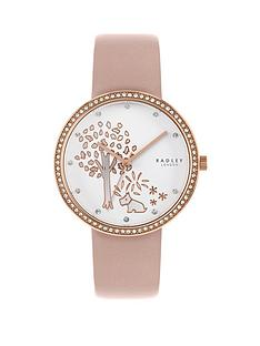radley-radley-silver-and-rose-gold-detail-glitz-dial-blush-leather-strap-ladies-watch