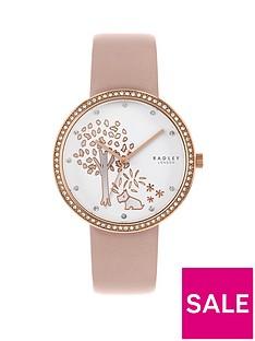 radley-radley-silver-and-rose-gold-detail-glitz-dial-blush-leather-strap-ladies-watch