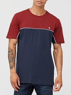 very-man-colour-block-piped-t-shirt-multi