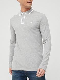 very-man-placket-tipped-pique-long-sleeve-polo-shirt-grey