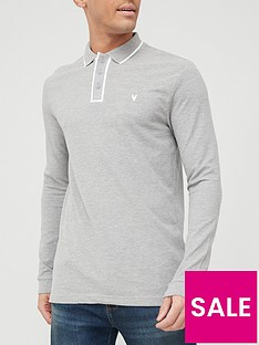 very-man-placket-tipped-pique-long-sleeve-polo-shirt-grey