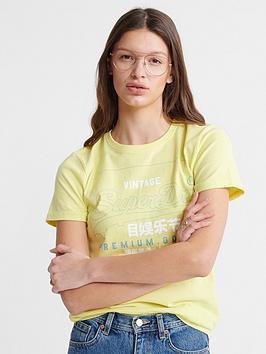 superdry-organic-cotton-premium-goods-label-outline-t-shirt-yellow