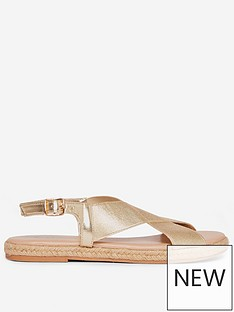 dorothy-perkins-fletcher-cross-espadrilles-gold