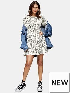 topshop-ditsy-babydoll-puff-sleeve-mini-dress-multi