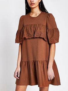river-island-broderie-frill-jersey-sweater-dress-rust