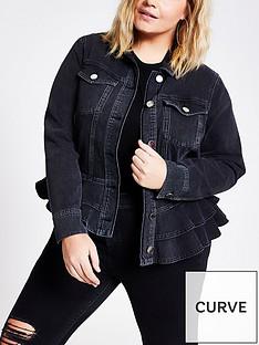 ri-plus-peplum-denim-jacket-black