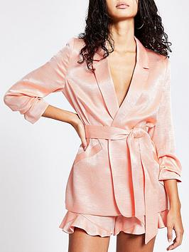 river-island-belted-blazer-coral
