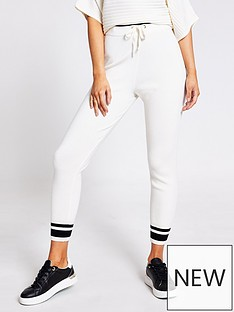 river-island-co-ord-knitted-jogger-cream