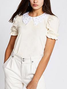 river-island-collar-detail-puff-sleeve-t-shirtnbsp--beige