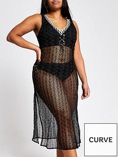 ri-plus-crochet-knit-beach-midi-cover-up-black