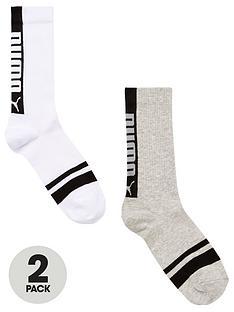 puma-2-pack-of-logo-socks-whitegrey