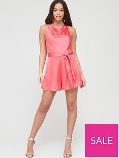 river-island-cowl-neck-satin-playsuit-pink