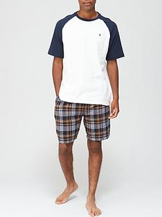 very-man-raglan-tee-and-check-short-bottom-pj-set-multi