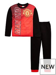 manchester-united-boys-football-long-sleevednbsppyjama-set-red