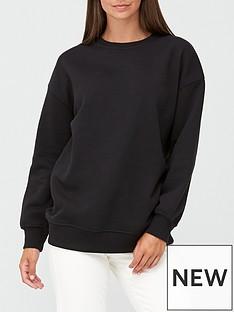 v-by-very-the-essential-longline-crew-neck-sweatshirt-black
