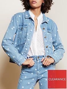 fabienne-chapot-cyprus-polka-dot-denim-jacket-blue