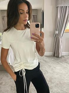 michelle-keegan-ruched-front-t-shirt-white