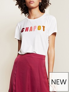 fabienne-chapot-terry-logo-t-shirt-white