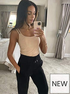 michelle-keegan-double-strap-ribbed-cami-top-tan
