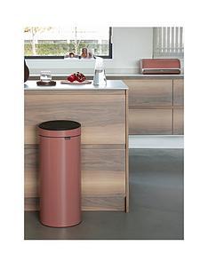 brabantia-30-litre-touch-bin-ndash-terracotta-pink