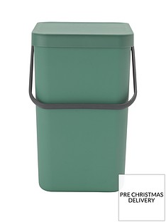 brabantia-25-litre-sort-and-go-waste-bin-in-pine-green
