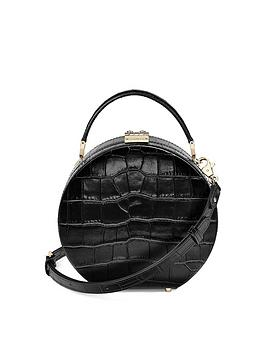 aspinal-of-london-mini-croc-hat-box-bag-black