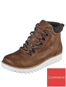 skechers-mountain-kiss-lace-up-walking-ankle-boots-brown
