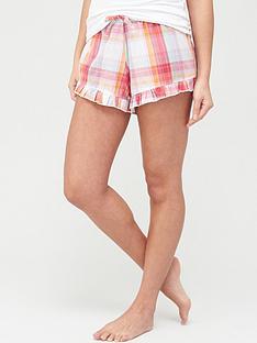 pour-moi-cotton-check-frill-shorts-multinbsp