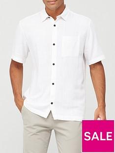 river-island-short-sleeved-linen-shirt-white