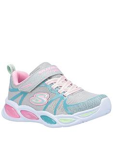 skechers-girls-shimmer-beams-trainers-silver