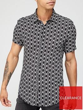 river-island-short-sleevenbspchain-print-shirt-blacknbsp