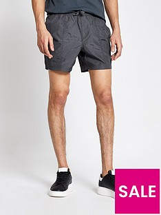 river-island-nylon-shorts-charcoal