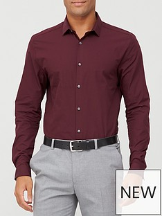 river-island-long-sleeved-shirt-burgundy