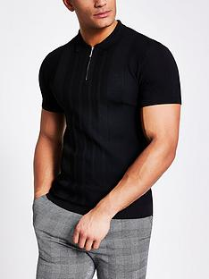 river-island-ultimatenbsppolo-shirt-black