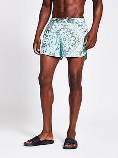 river-island-bandanna-print-shorts-mint