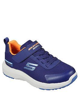 skechers-boys-dynamic-tread-waterproof-trainer-navy