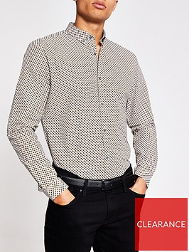 river-island-long-sleeve-mini-geo-print-shirt-grey