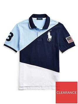 ralph-lauren-boys-short-sleeve-colourblock-polo-navy